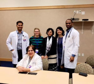Geriatric Fellows 2019-2020 with Dr. Mendiratta and Dr. Azhar